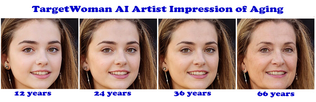 TargetWoman AI artist impression of aging in a woman